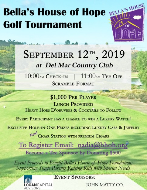 BHOH Golf Tournament Flyer 2019